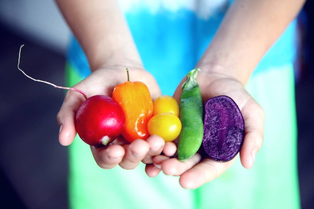 Eating the Rainbow – Challenge Yourself to Try Fruits and Vegetables of Different Colors.